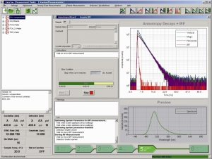 EasyTau - Screenshot of the FluoTime 300 software