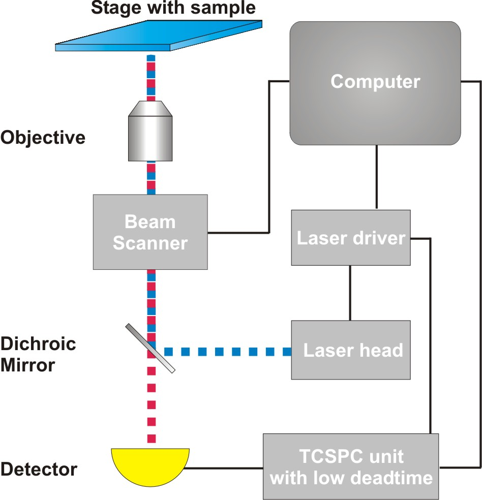 Generalized set-up of an  imaging microscope capable of performing rapidFLIM experiments