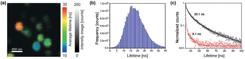 Fluorescence lifetime distribution of NV centers in nano diamonds