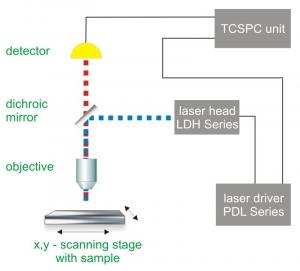 Generalized setup of a fluorescence lifetime imaging microscope