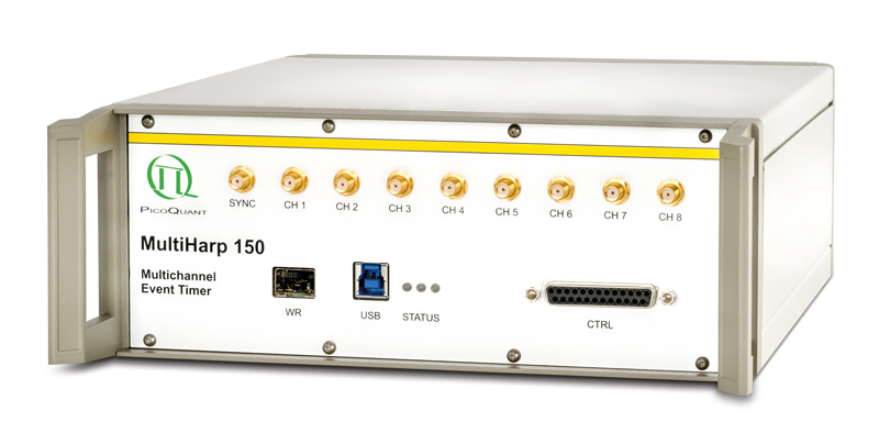 MultiHarp 150 - High-Throughput Multichannel Event Timer & TCSPC Unit
