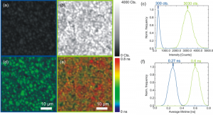 A CdTe-polycrystalline wafer surface scanned on a confocal microscope before and after thermal activation with a chloride compound.