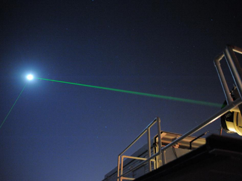 Laser Ranging Facility at the Geophysical and Astronomical Observatory at NASA's Goddard Space Flight Center in Greenbelt, Md. Image courtesy of NASA