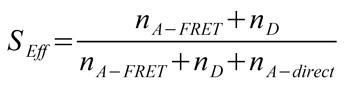 General formula for FRET efficiency