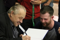 Autograph session with Joseph R Lakowicz at the welcoming reception
