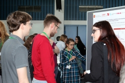 Discussions during the poster session