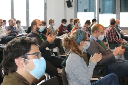 Audience during a talk