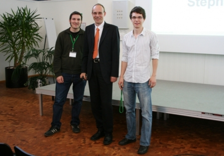 Student award winner at the single molecule workshop 2009