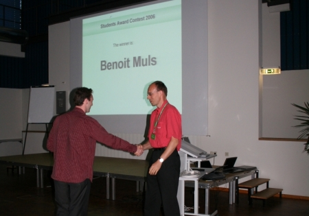 Student award winner at the single molecule workshop 2006