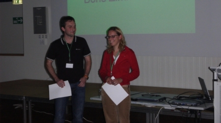 Student award winner at the single molecule workshop 2005