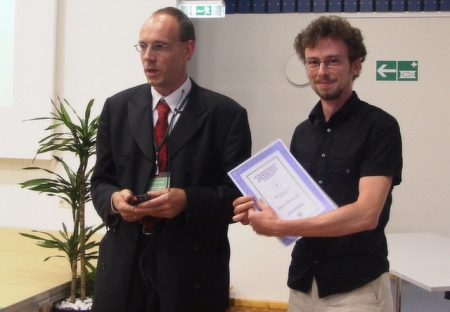 Student award at the single molecule workshop 2004