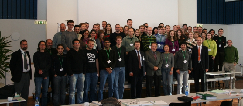 Group picture at the fluorescence course 2008
