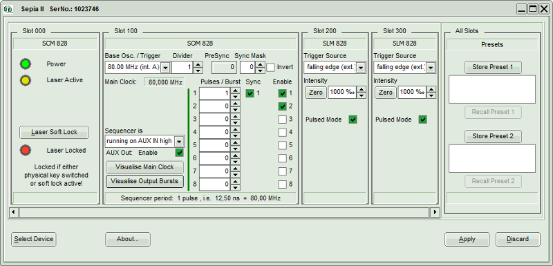 "New operating software for the PDL 828 ""Sepia II"""