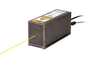 The LDH-P-FA-560 emits laser pulses at 560 nm