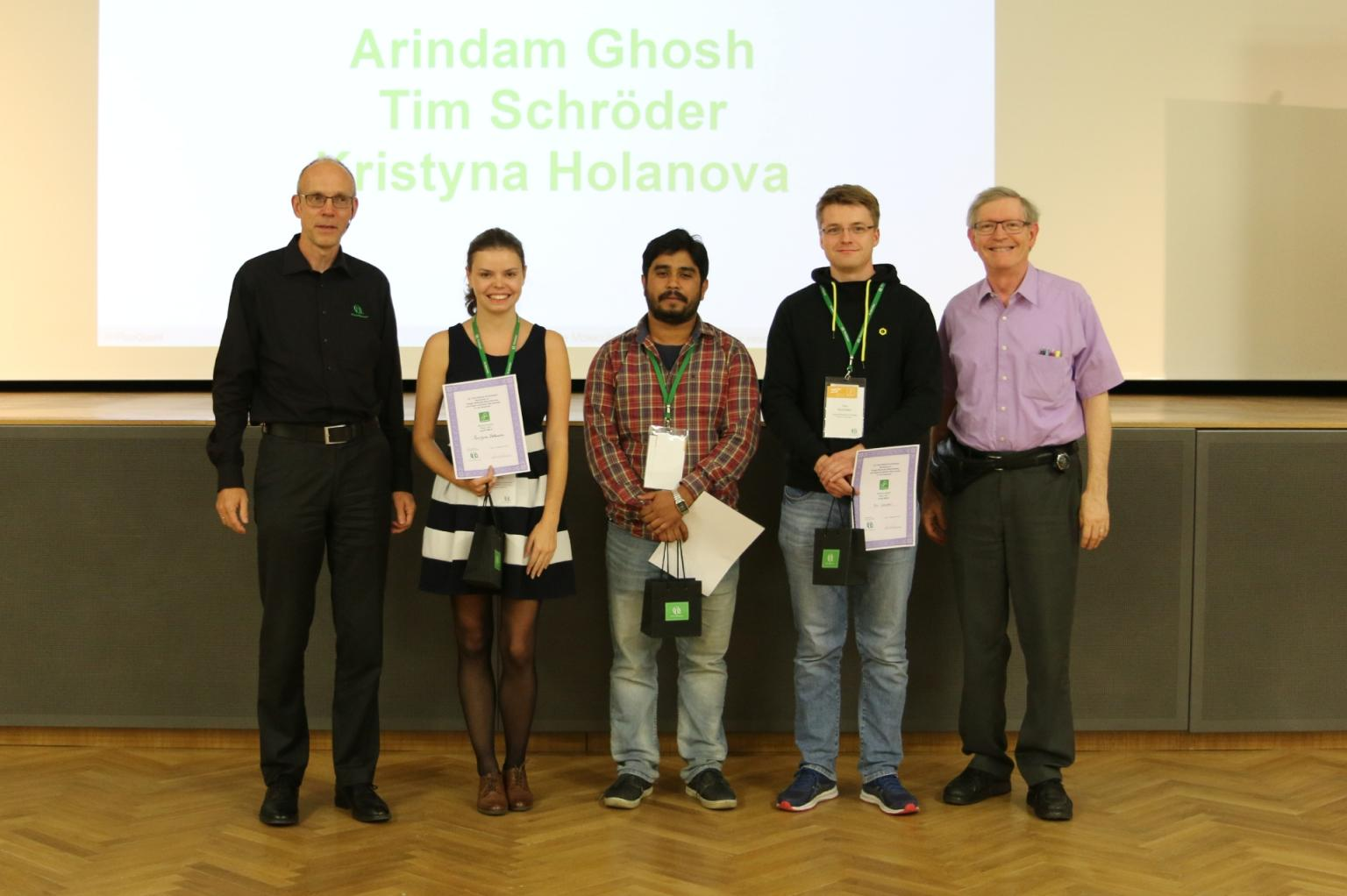 Congratulations to the winners of the student award 2019