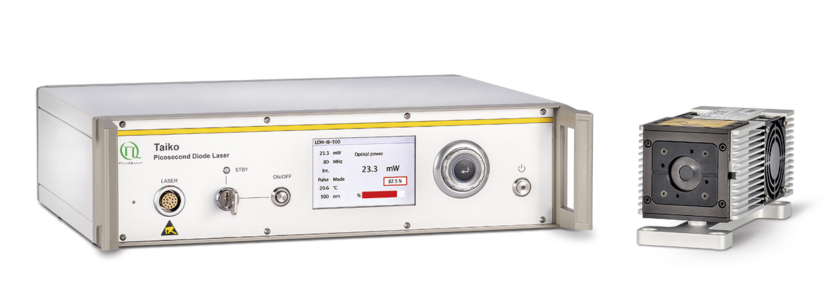 The new max. power mode of the Taiko allows operating all existing and new diode laser heads at their maximum possible pulse energy, while still providing the usual calibrated optical power display at any repetition rate from 1 Hz to 100 MHz.