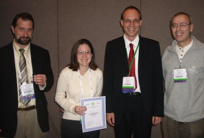 Andrea M. Armani - winner young investigator award at BIOS 2008 along with the jury
