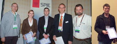 Sigrun Henkenjohann, Jonas Foelling and Nathan P. Wells - winner young investigator award at BIOS 2009 along with the jury