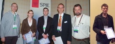 Sigrun Henkenjohann, Jonas Foelling and Nathan P. Wells - winner young investigator award at BIOS 2009 along with the jury