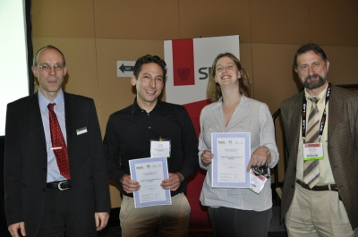 Julie S. Biteen and Daniel Aquino - winner young investigator award at BIOS 2011 along with the jury