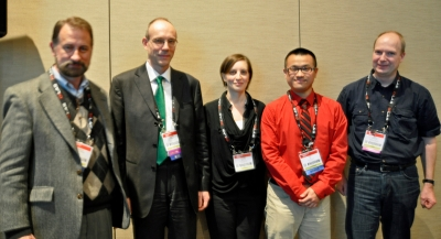 Esther Wertz and Ying S. Hu - winner young investigator award at BIOS 2013 along with the juryBios13 winner