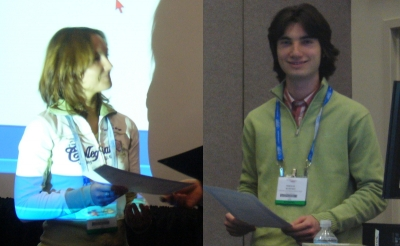 H.R.C. Dietrich and M.I. Rudenko - winner young investigator award at BIOS 2007
