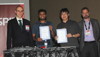 Narain Karedla and Quan Wang - winner young investigator award at BIOS 2013 along with the jury