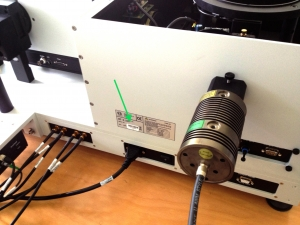 Where to find the serial number on a FluoTime 300 from PicoQuant