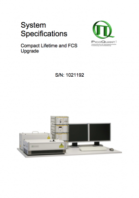 Where to find the serial number of your LSM Upgrade Kit from PicoQuant