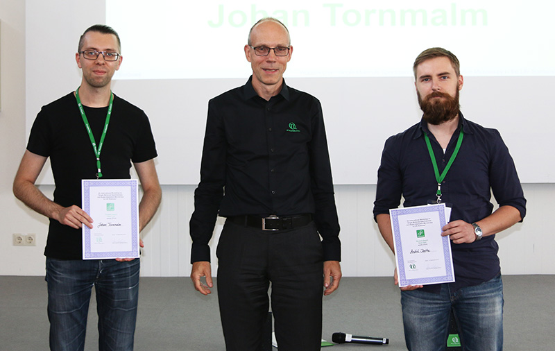 Winners of the student award 2018