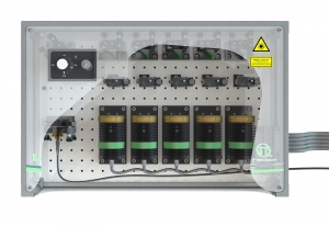 LCU with 5 laser heads, top view | Laser Combining Unit (LCU)
