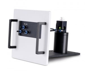 Sample mounting unit with temperature stabilzed holder for 1x1cm cuvettes | FluoTime 300