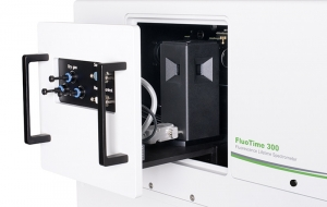 Sample mounting unit with temperature controlled holder for 1x1cm cuvettes inside FluoTime 300 | FluoTime 300