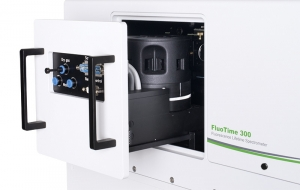 Sample mounting unit with 4-position holder for 1x1cm cuvettes inside FluoTime 300 | FluoTime 300