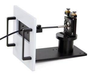 Sample mounting unit with fiber coupling sample holder