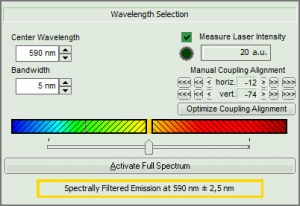 Solea software - Wavelength selector | Solea