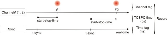 scheme - T3 mode of the TimeHarp 260