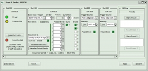 Screenshot of the operation software of the PDL 828
